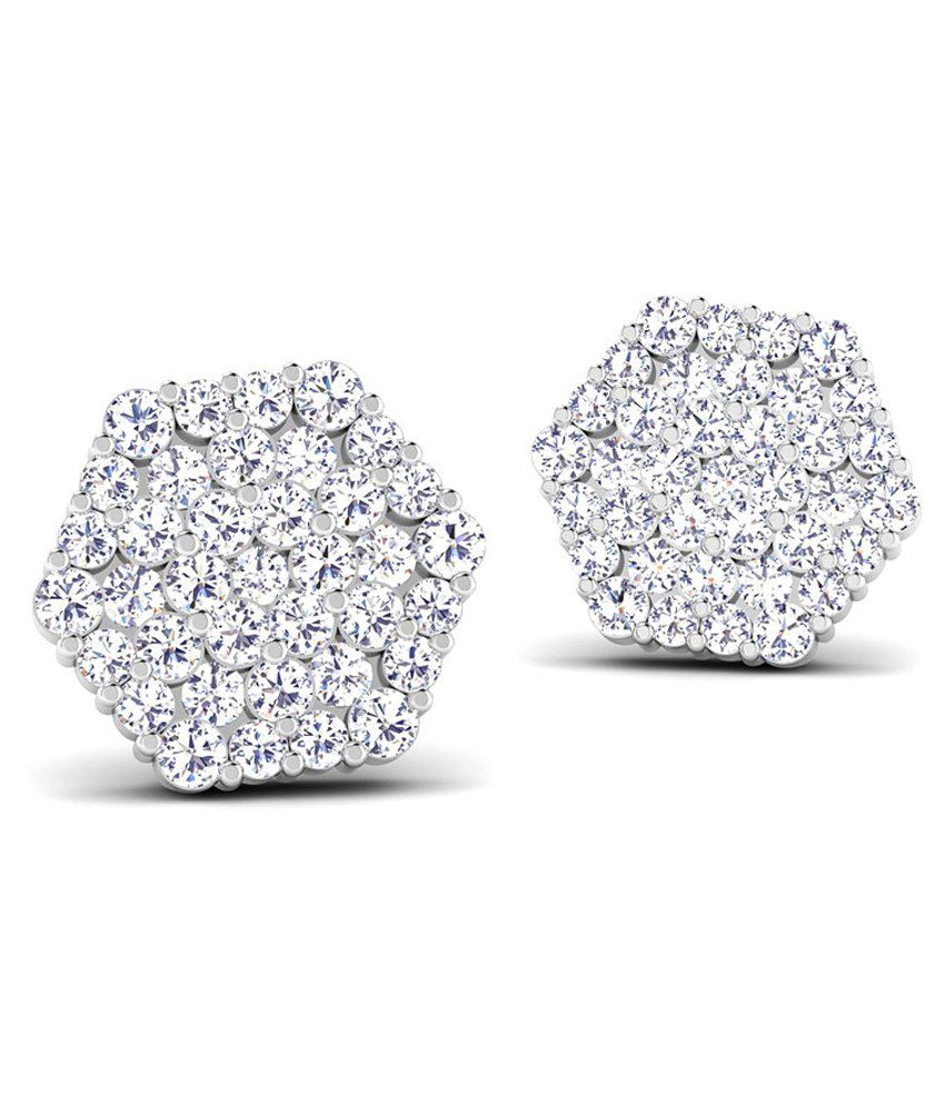 Caratstyle 18Kt Hexagon Cluster Earring