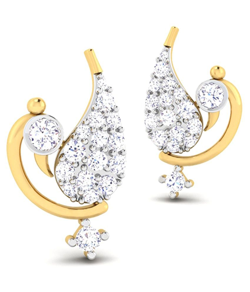 Caratstyle 18Kt Paon Earring