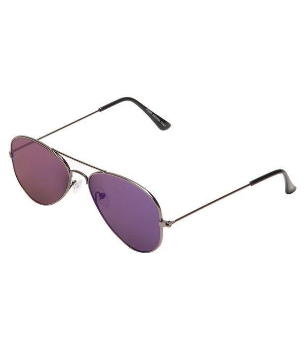 Prime Club Grey Unisex Aviator Sunglasses