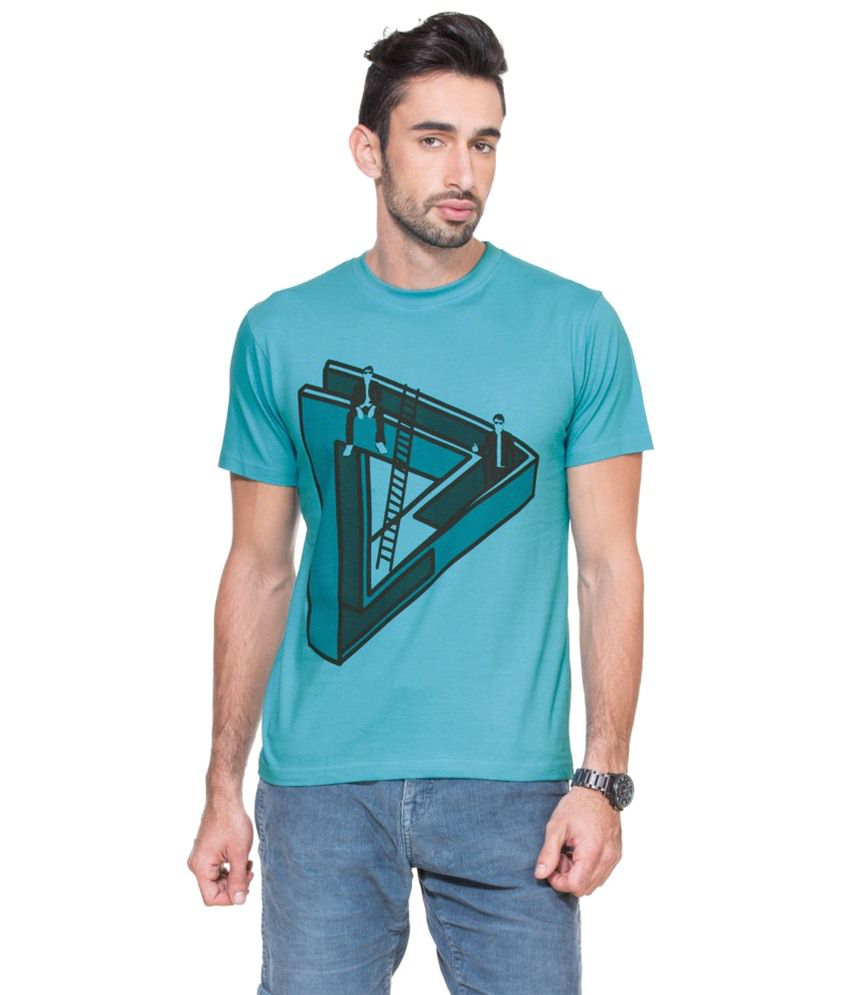 Zovi Illusion 11 Pool Blue Graphic T-shirt