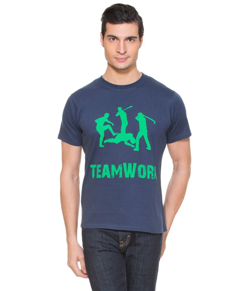 Zovi Team Work Heritage Navy Graphic T-shirt