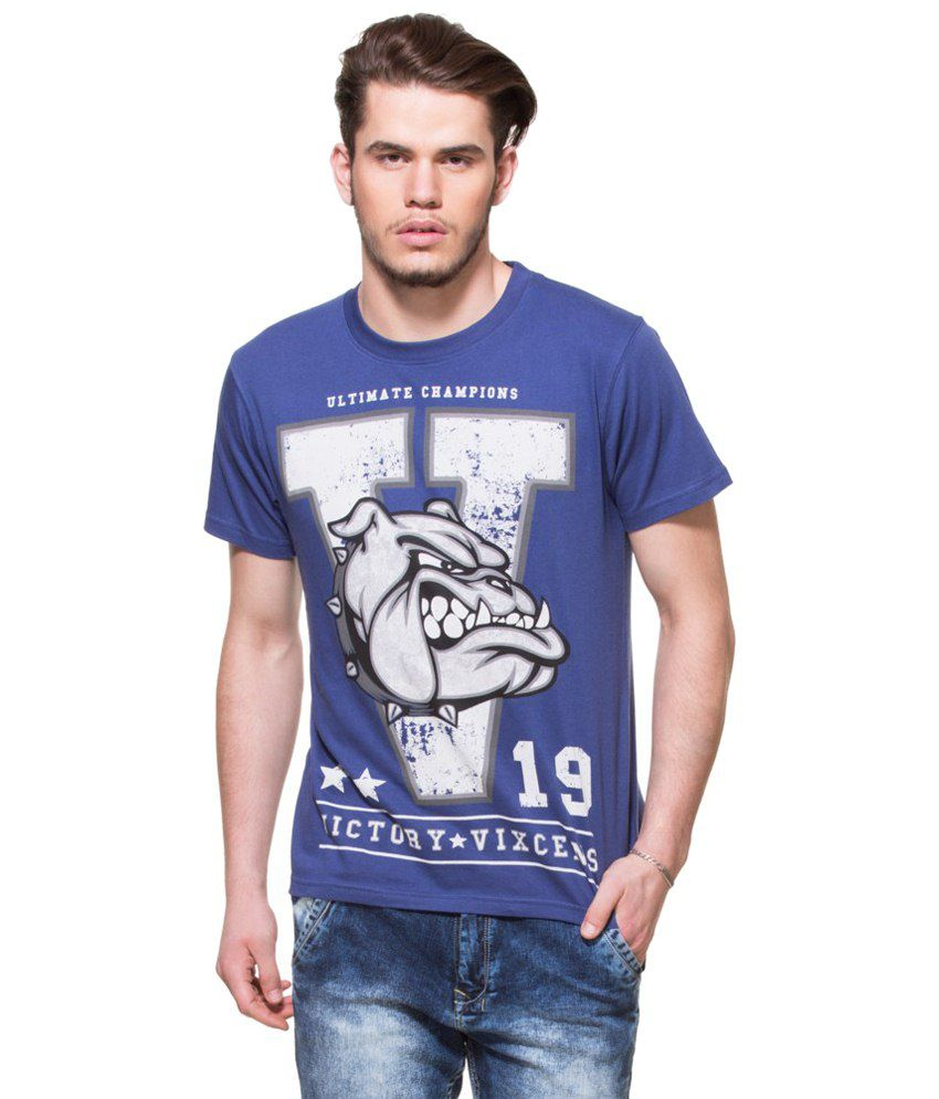Zovi Victory Vixcens Patriot Blue Graphic T-shirt