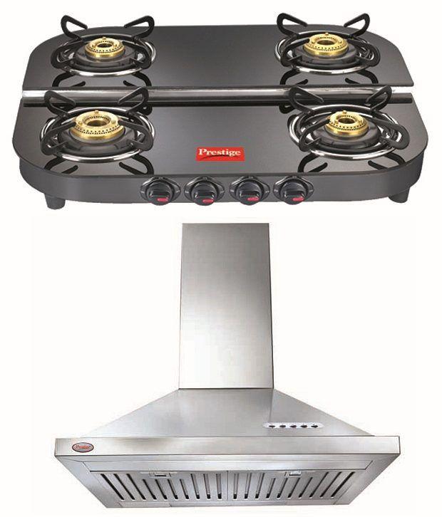 Prestige Clic Steel Kitchen Hood Get Royale Dgt 04 Gl Top Gas Stoves Free