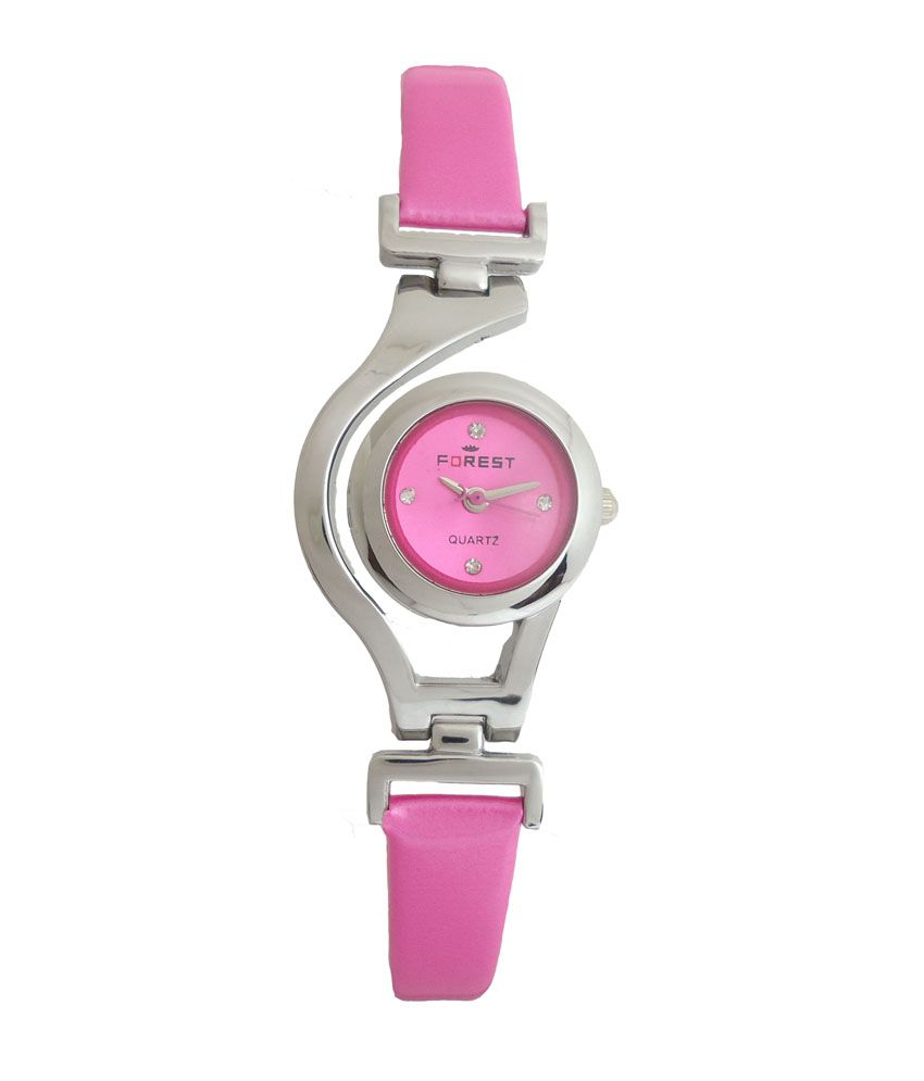 Forest Pink Dial Analogue Watch for Girls