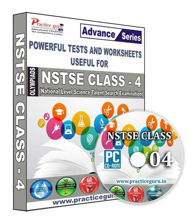 NSTSE Class 4 English Maths- Topic Wise - 40 Tests , Previous Year Paper,  1100+ Question Bank, Science - 35 , Previous Year Paper, 900+ Questions CD