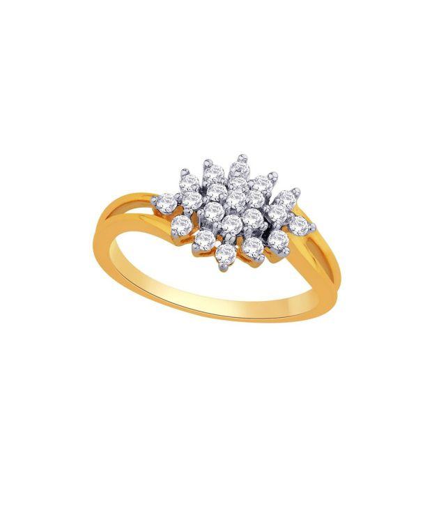 Nakshatra 18Kt IGI Contemporary Ring