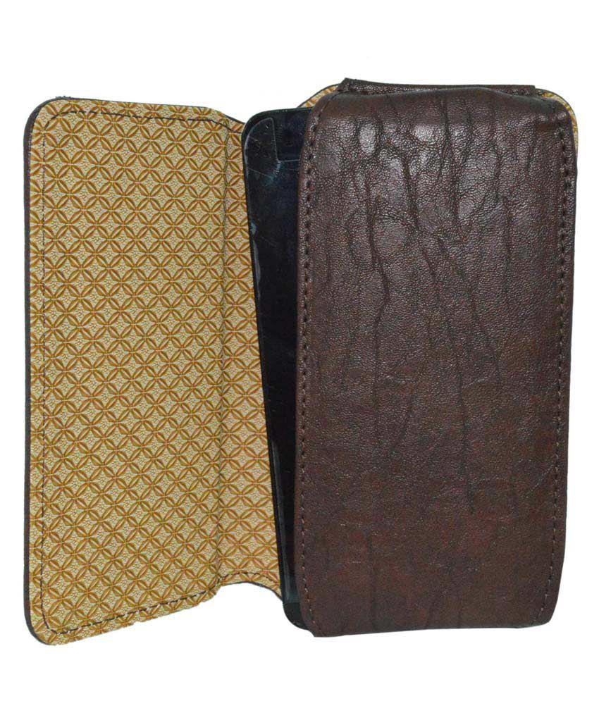 Totta Universal PU Leather Belt Pouch For Gionee Elife S5.1 - Brown