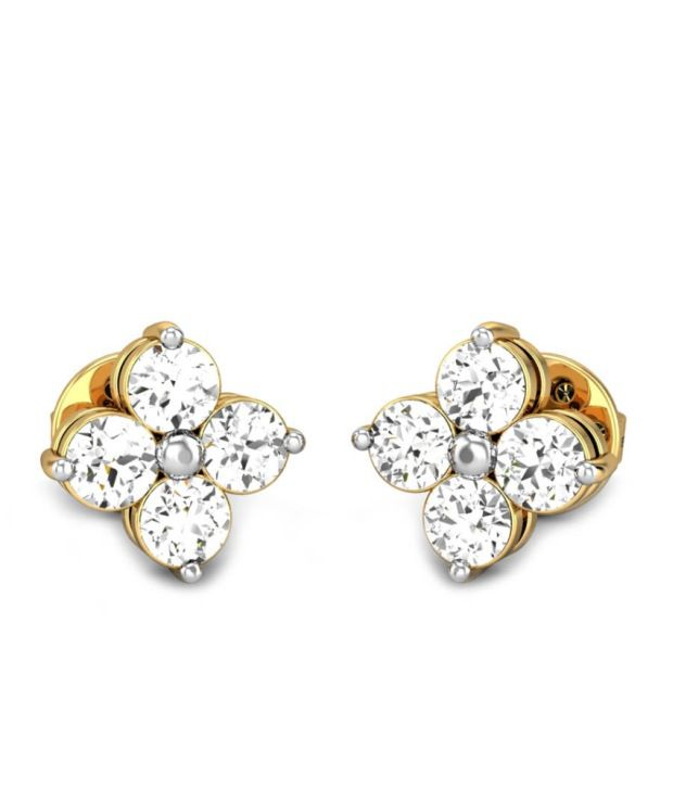 Candere Suditi's Yellow Gold 14K Diamond Earing
