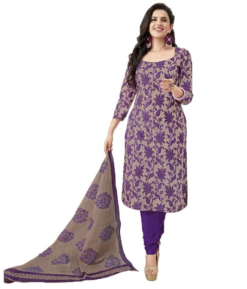 91706c312bbc Party Wear Dresses Purple Cotton Unstitched Dress Material - Buy Party Wear  Dresses Purple Cotton Unstitched Dress Material Online at Best Prices in  India ...