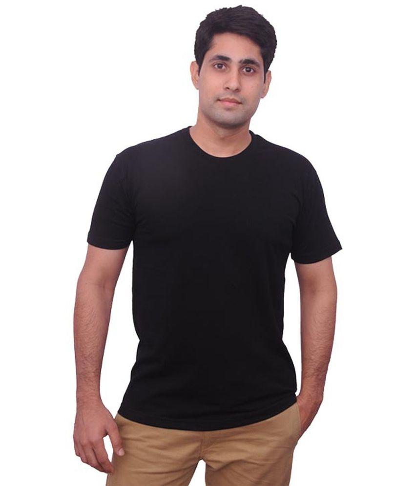 Teeswood White Cotton Half T-shirt For Men