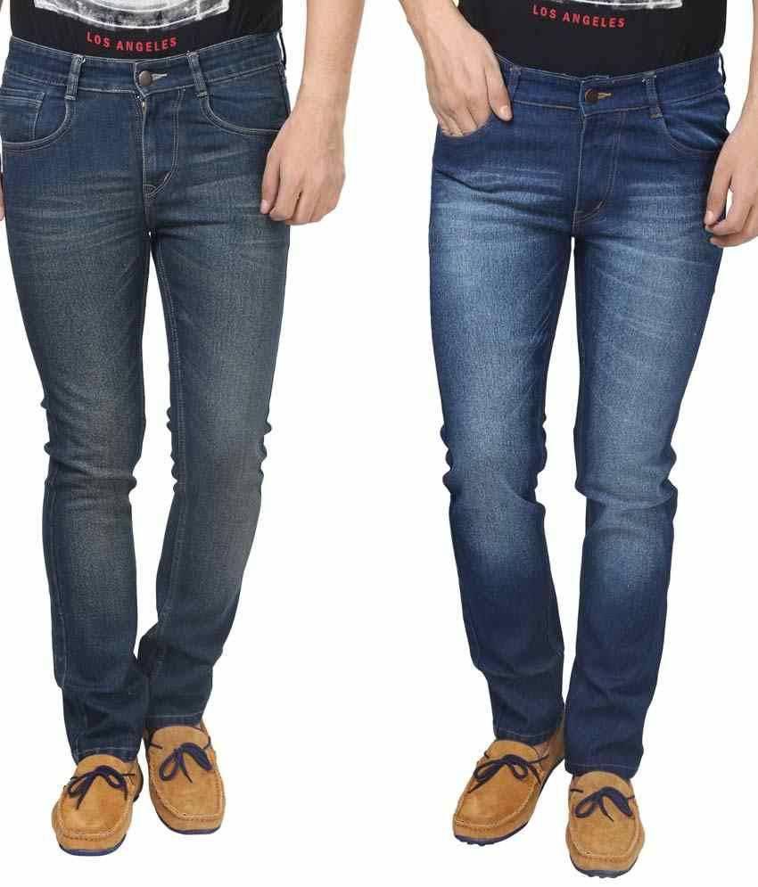 Trendy Trotters Cotton Stretchable Denim Jeans- Pack of 2