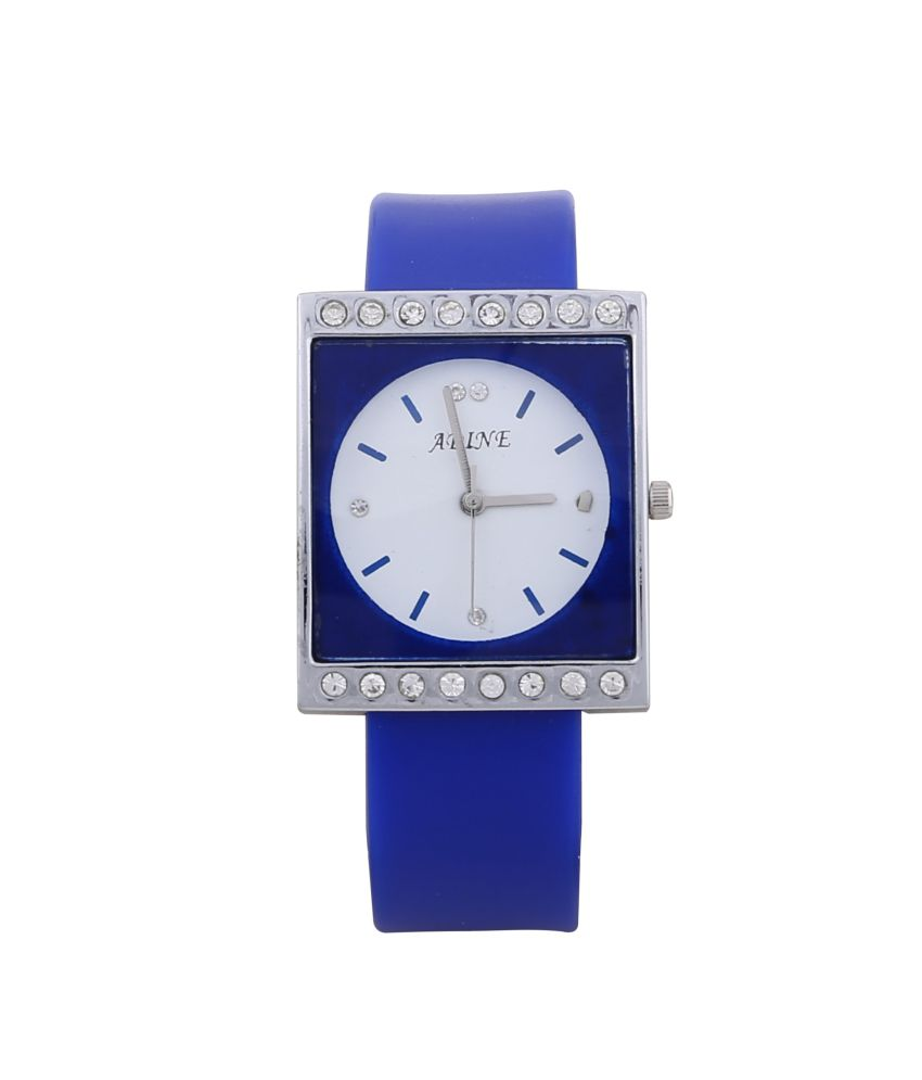 Adine White Rubber Strap Casual Analog Watch