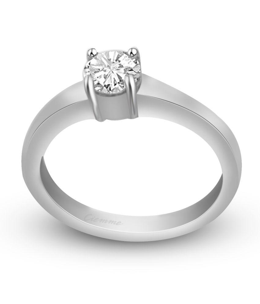 Ciemme Silver Cubic zirconia Ring