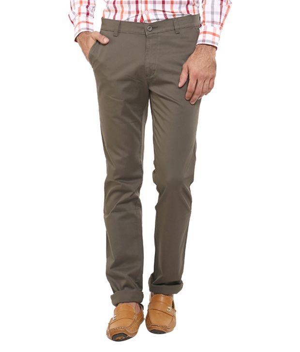 Classic Polo Cotton Lycra Slim Fit Casuals Trouser