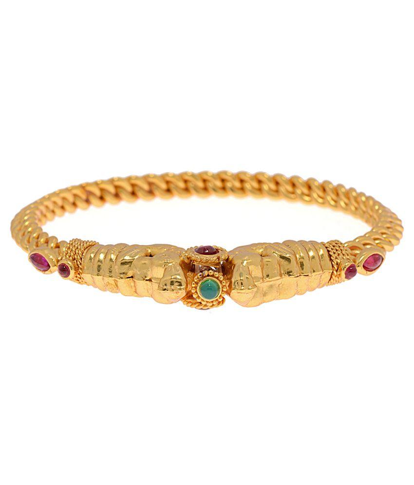 Alankruthi Golden Brass and Copper Bracelet