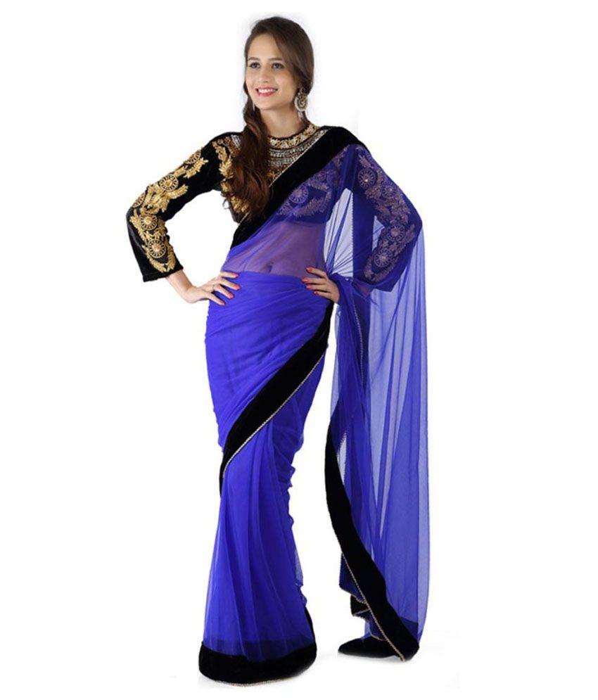 Bhuwal Nx Designer Chiffon Red Color Saree