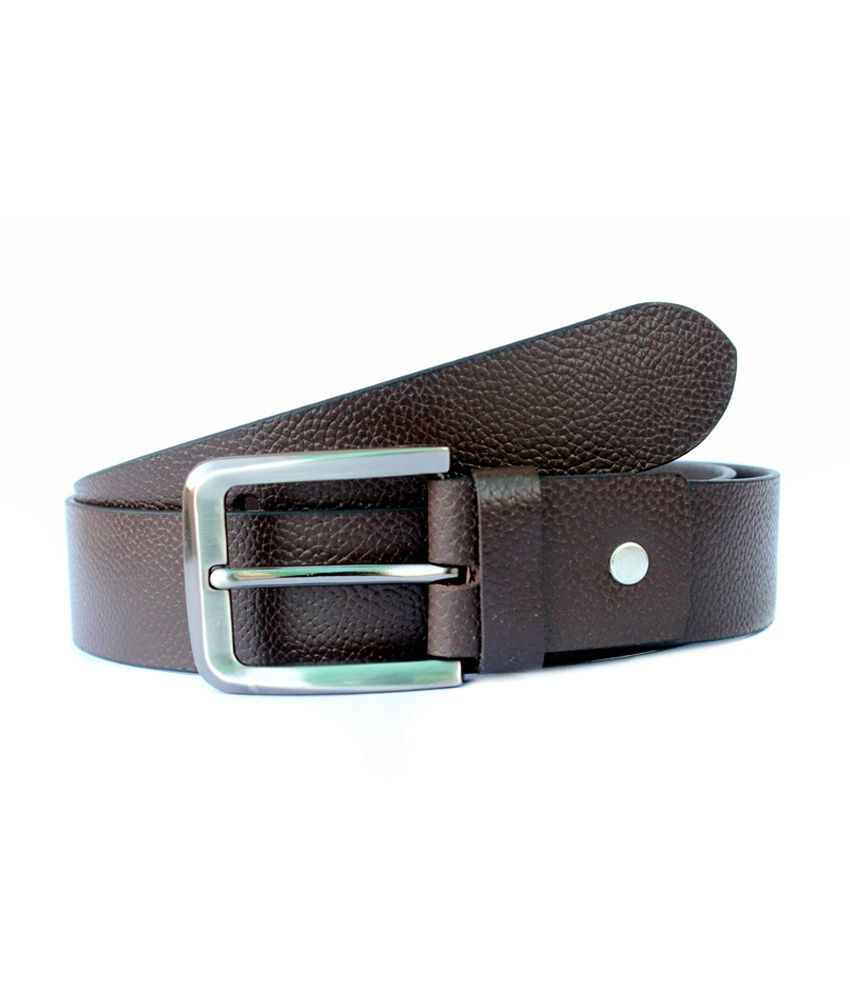 Garg Fancy Readymade Store Brown Pin Buckle Non Leather Belt for Men Pack of 5