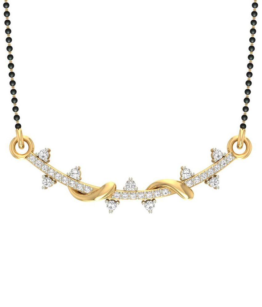 Jewels5 14kt Gold Diamond Atula Mangalsutra