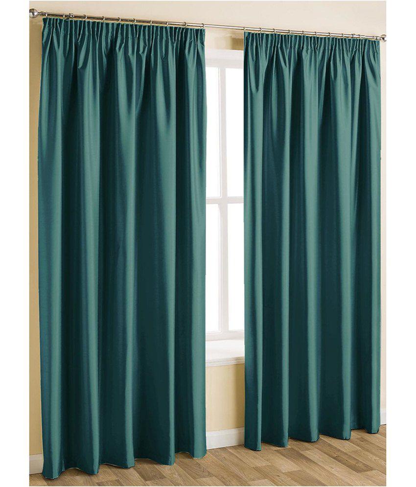 Parda Plus Set Of 10 Door Eyelet Curtains Solid Blue Buy
