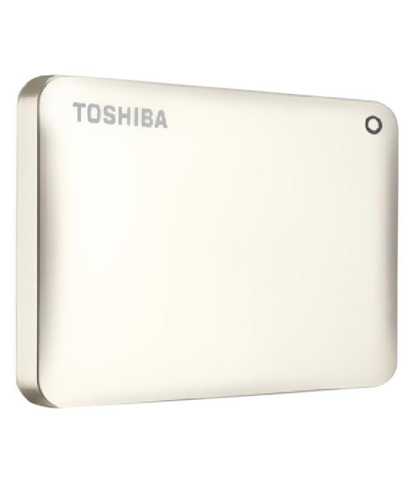 Toshiba Canvio Connect 1TB External Hard Drive (Satin Gold)