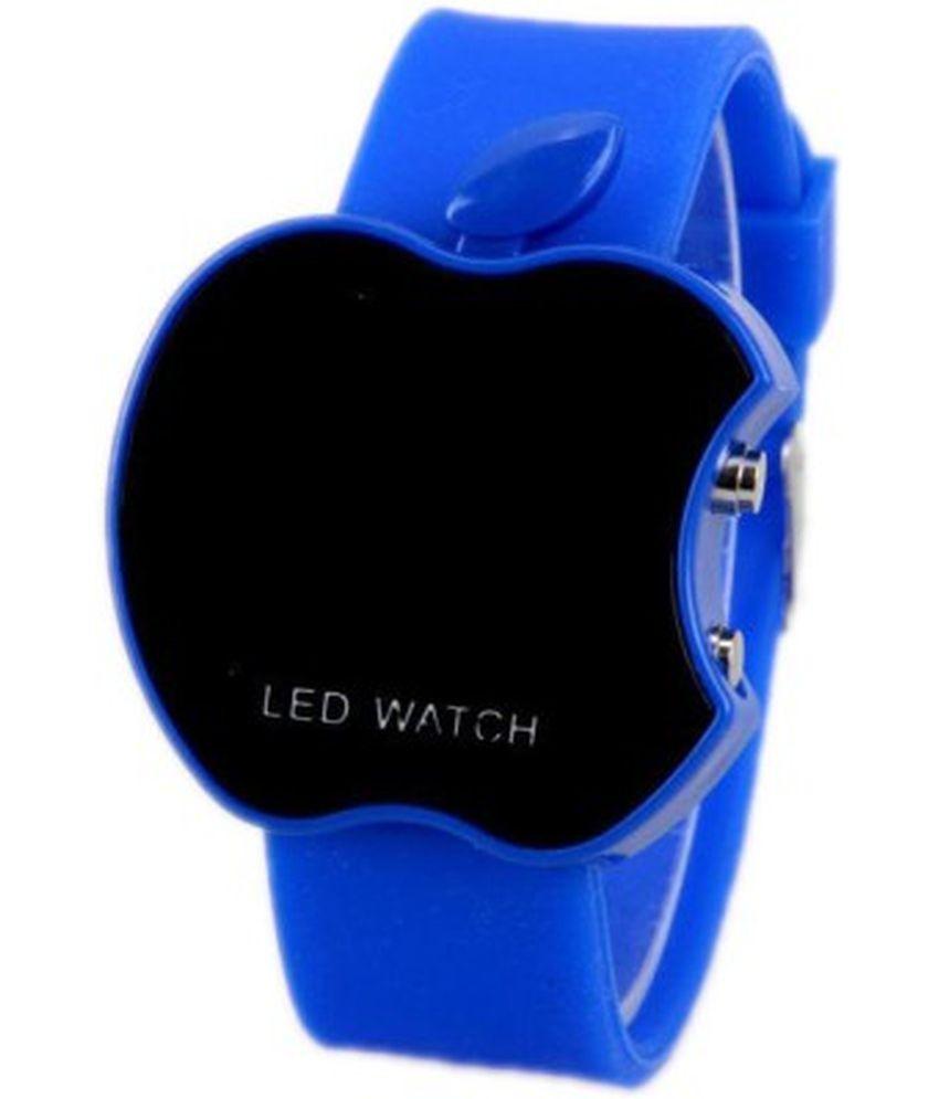 iWmart Blue Rubber Digital Wrist Watch