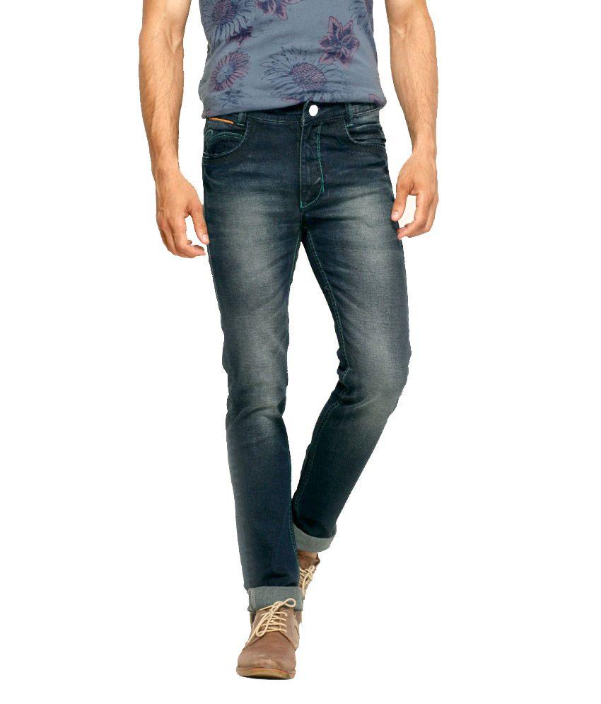 Kendrews Jeans Blue Cotton Blend Regular Jeans