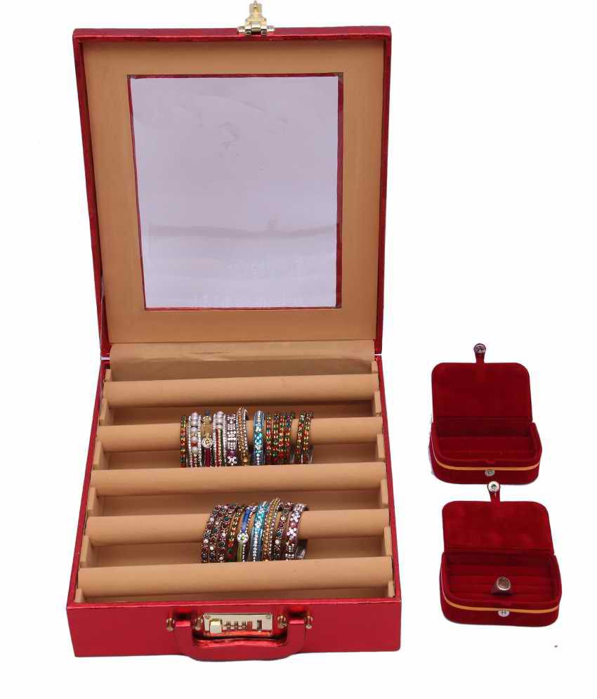 Kuber Industries Bangle Five Roll And Ring And Earing Box