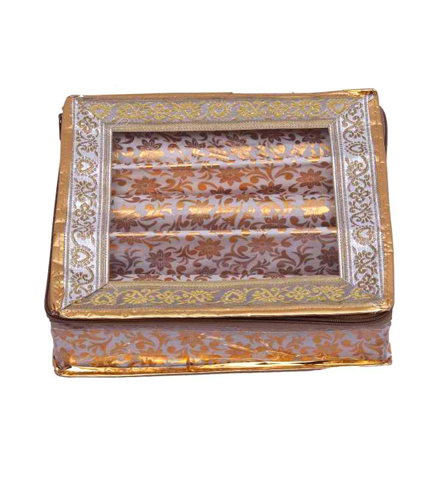Kuber Industries Bangle Three Roll And Vanity And Ring Box