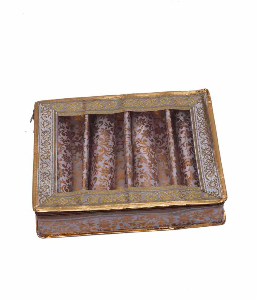 Kuber Industries Four Roll Bangle Box