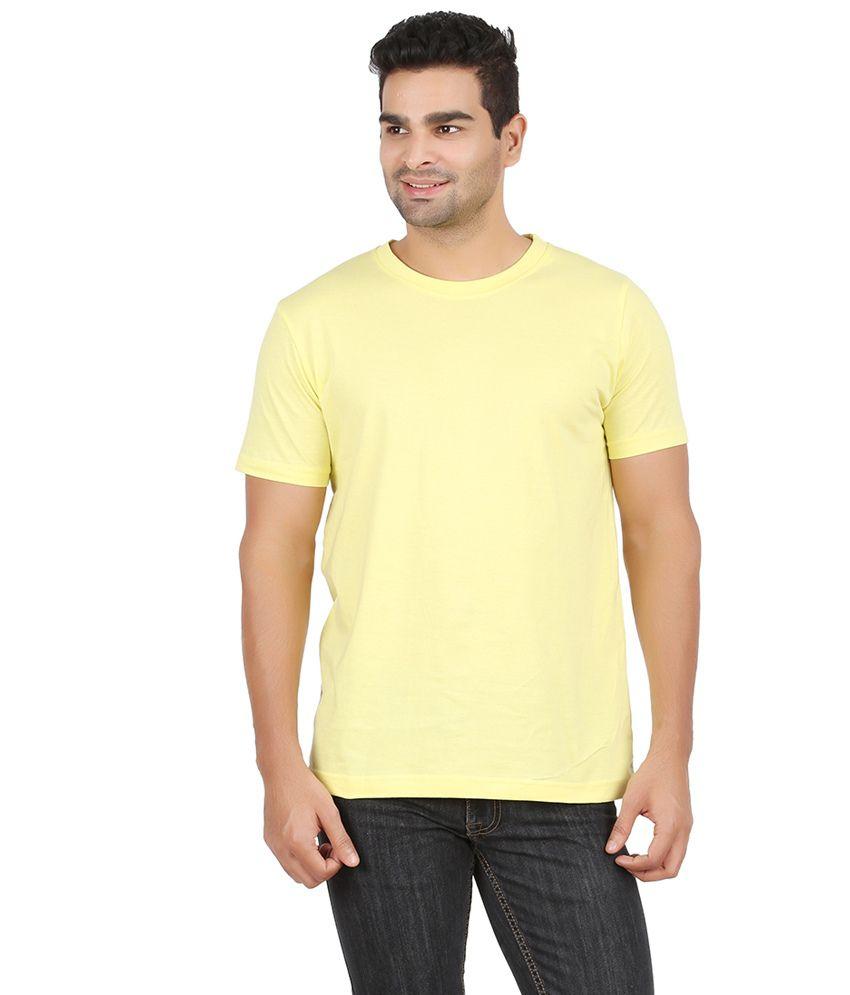 Charles Yellow Mens Round Neck