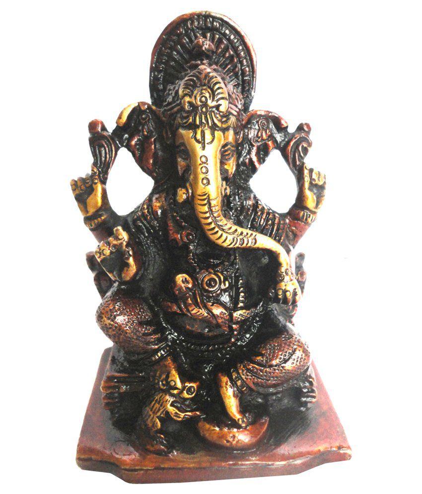 Craft Store India Hand Made Brass Ganesha Idol 4 X 3 Inch