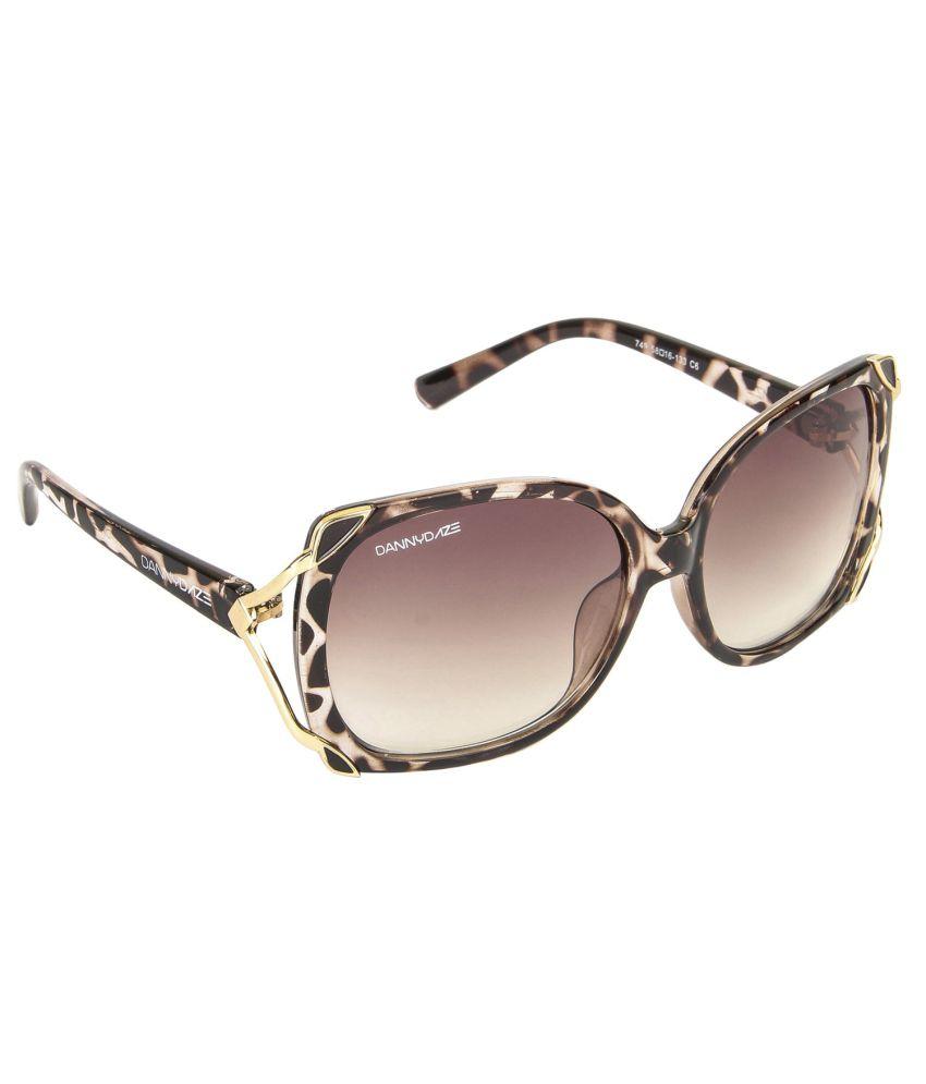 Danny Daze Brown Round Men Sunglasses