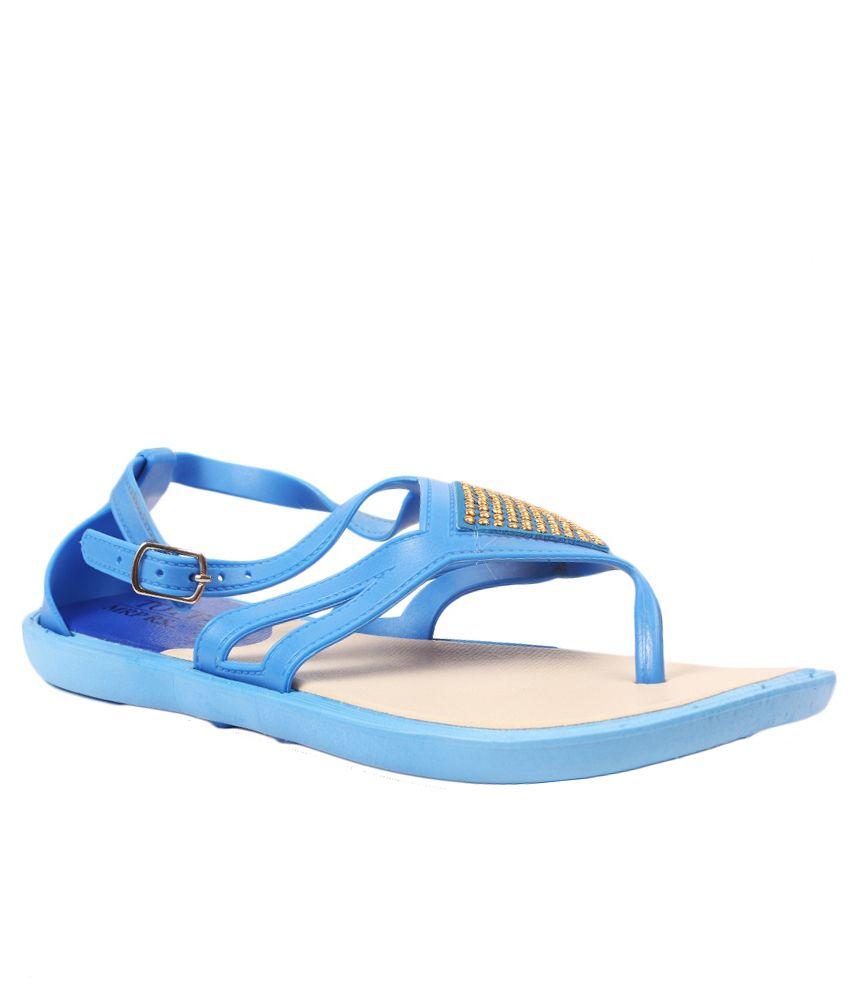 Aalishan Footwear Blue Flat