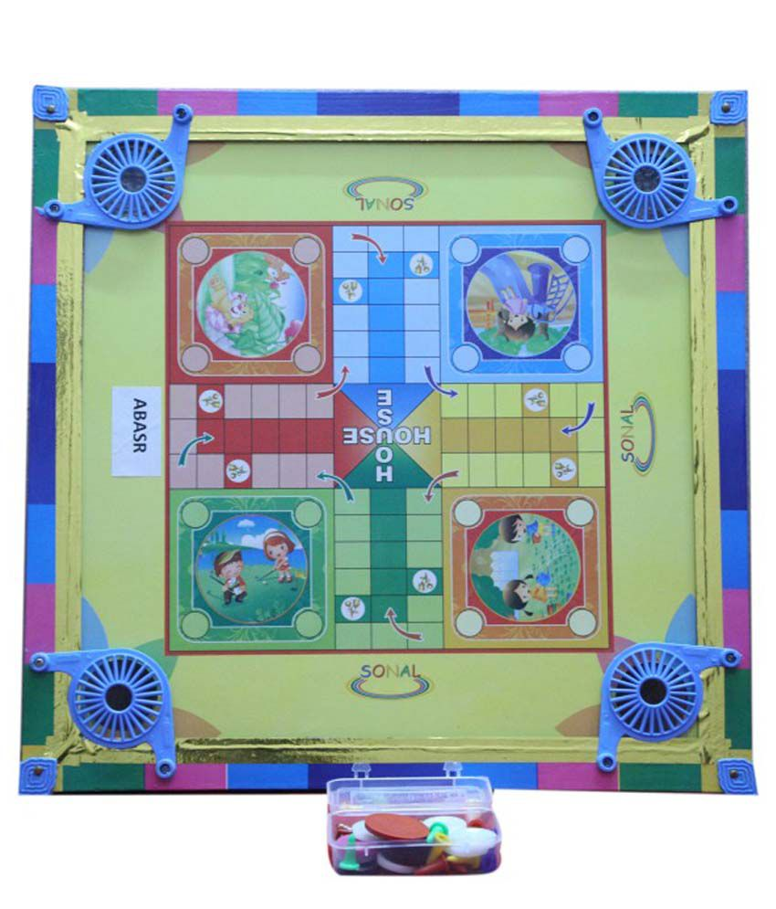 Abasr Carrom Board With Ludo Game