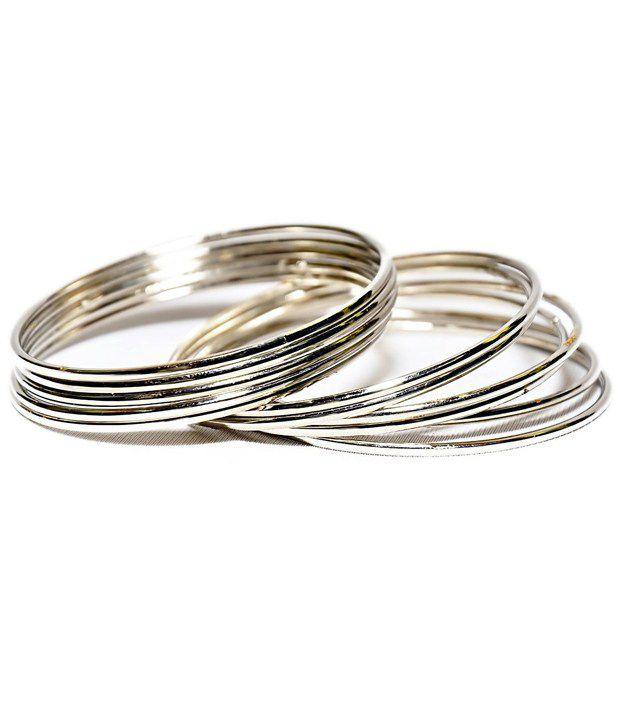 Bhavisha Art Silver Alloy Party Wear Bangles - Set Of 54