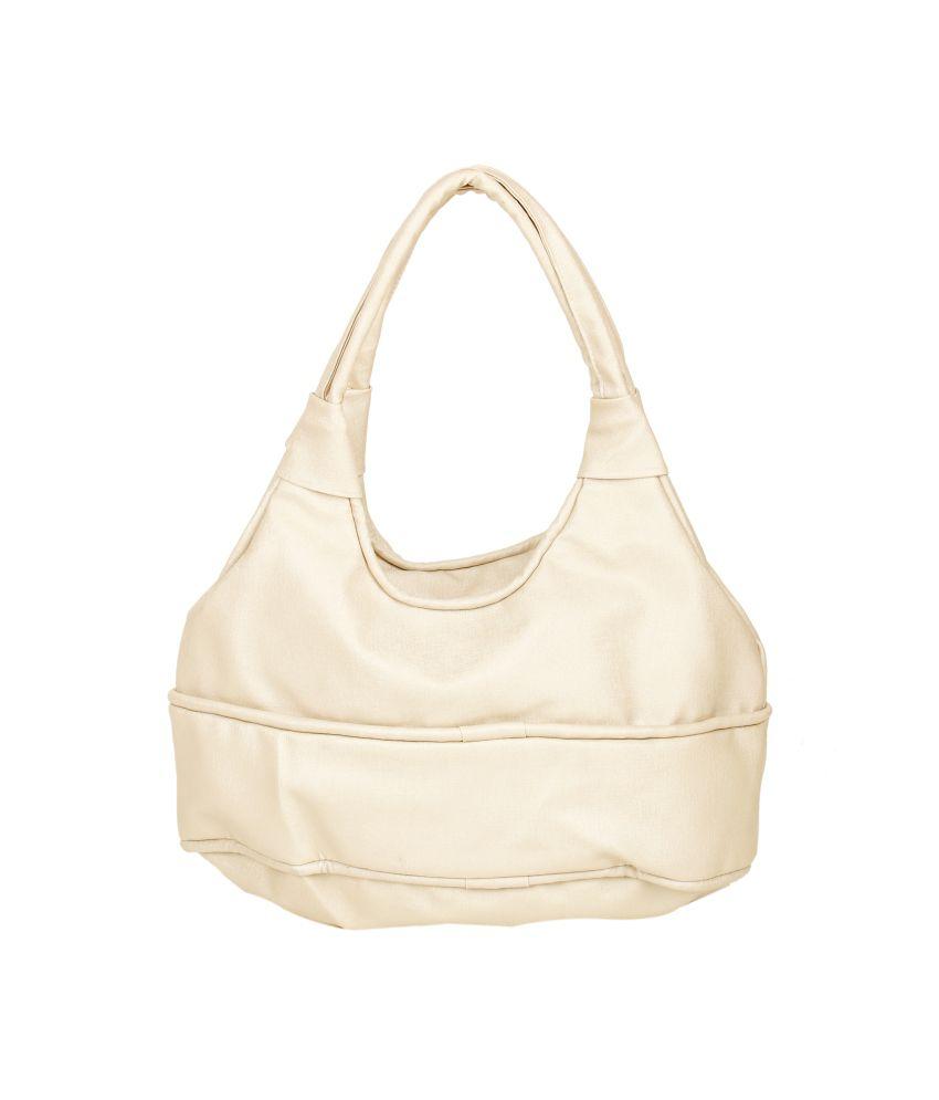 Maxi Fashion Beige P.u. Shoulder Bag
