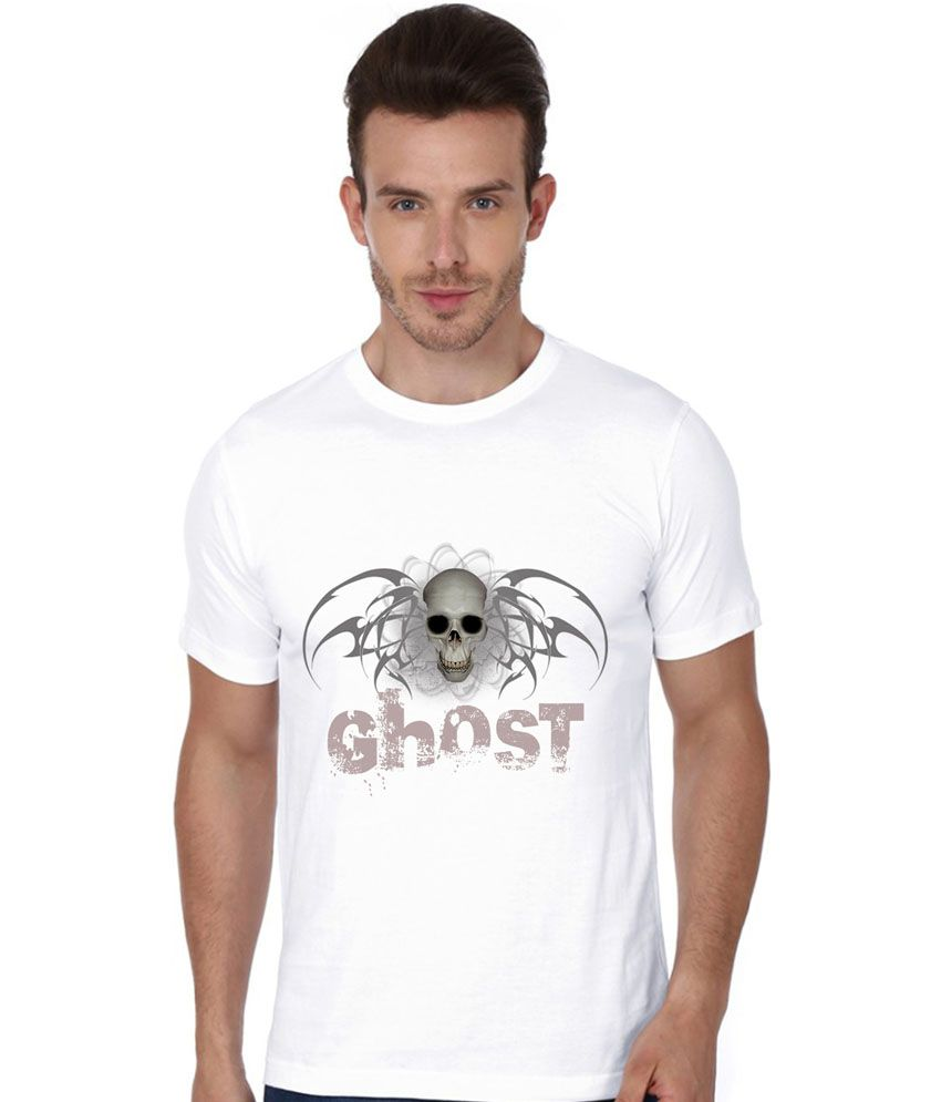 Trendster White Cotton T - Shirt