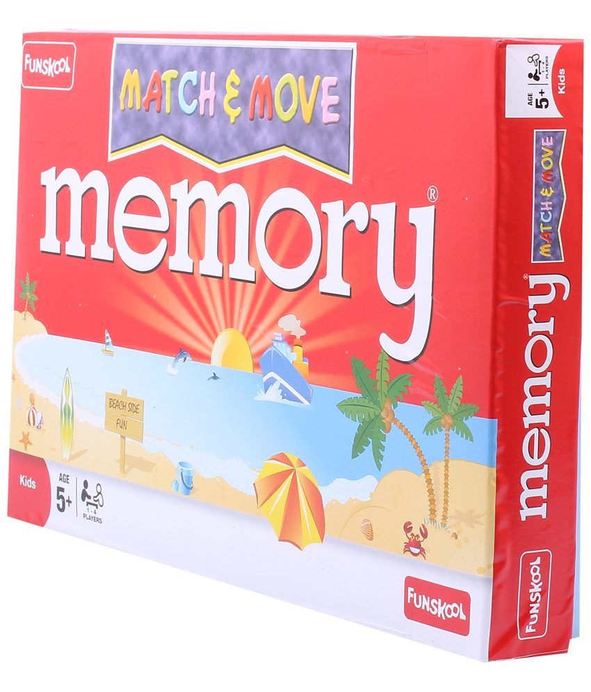 Funskool Red & White Match N Move Game