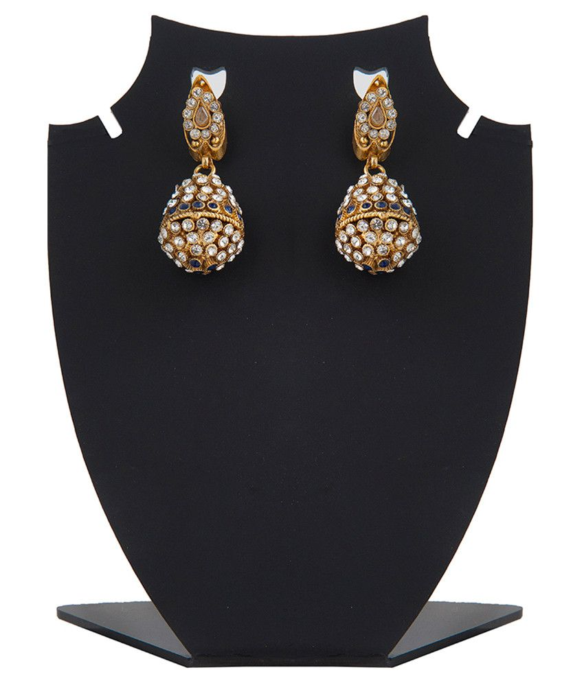 Inaya Multicolour Gold Plated Polki Drop Earrings