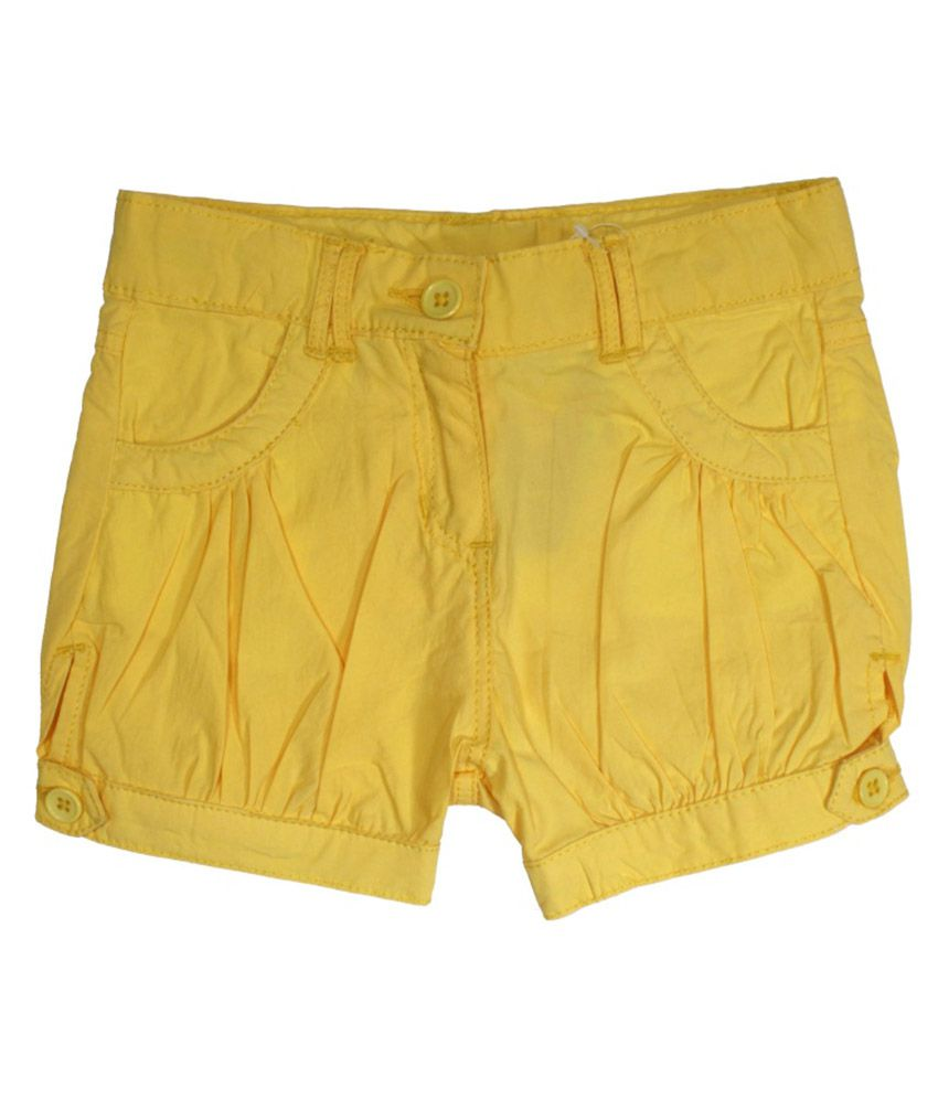 Little Flores Yellow Short for Girls
