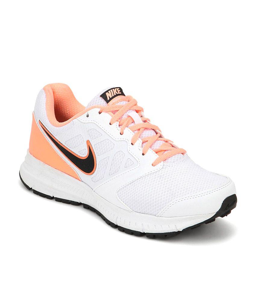 nike white mesh textile sports shoes for buy nike