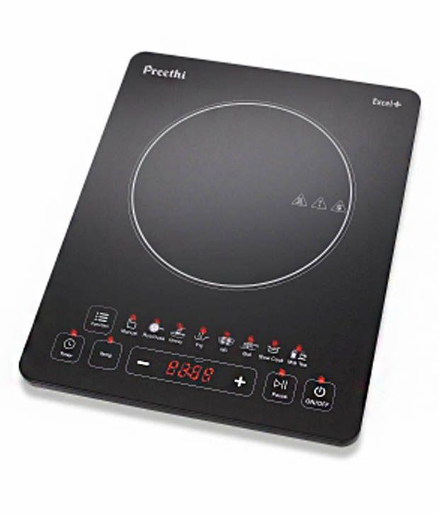 Preethi Excel Plus 117 1600 Watt Induction Cooktop Black