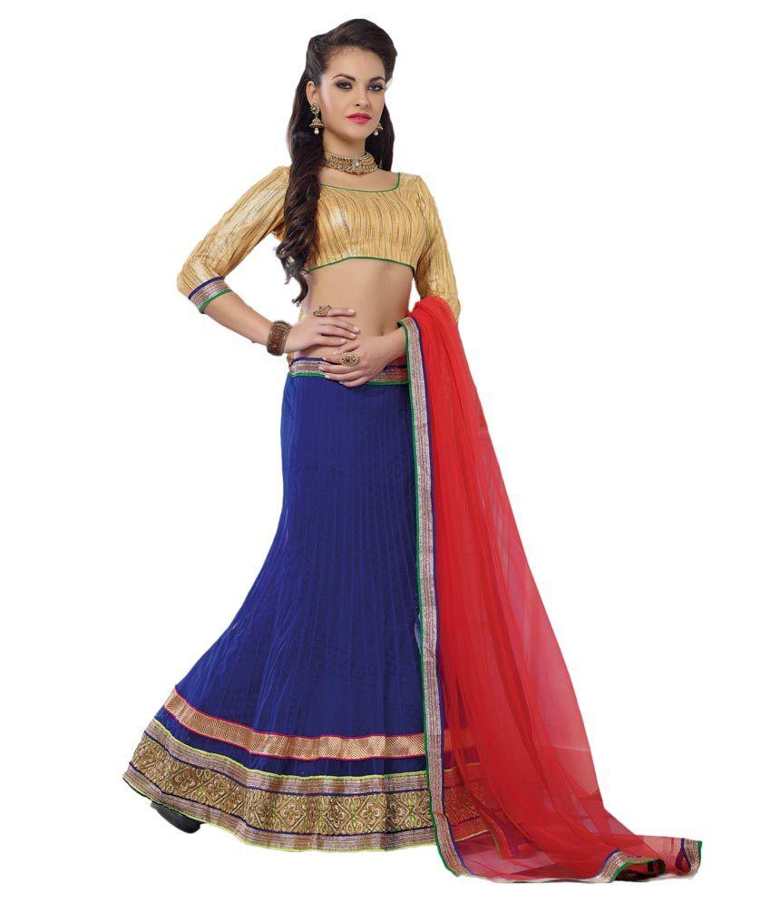 93174f1798 Style Kart Blue Brocade Lehenga - Buy Style Kart Blue Brocade Lehenga Online  at Best Prices in India on Snapdeal
