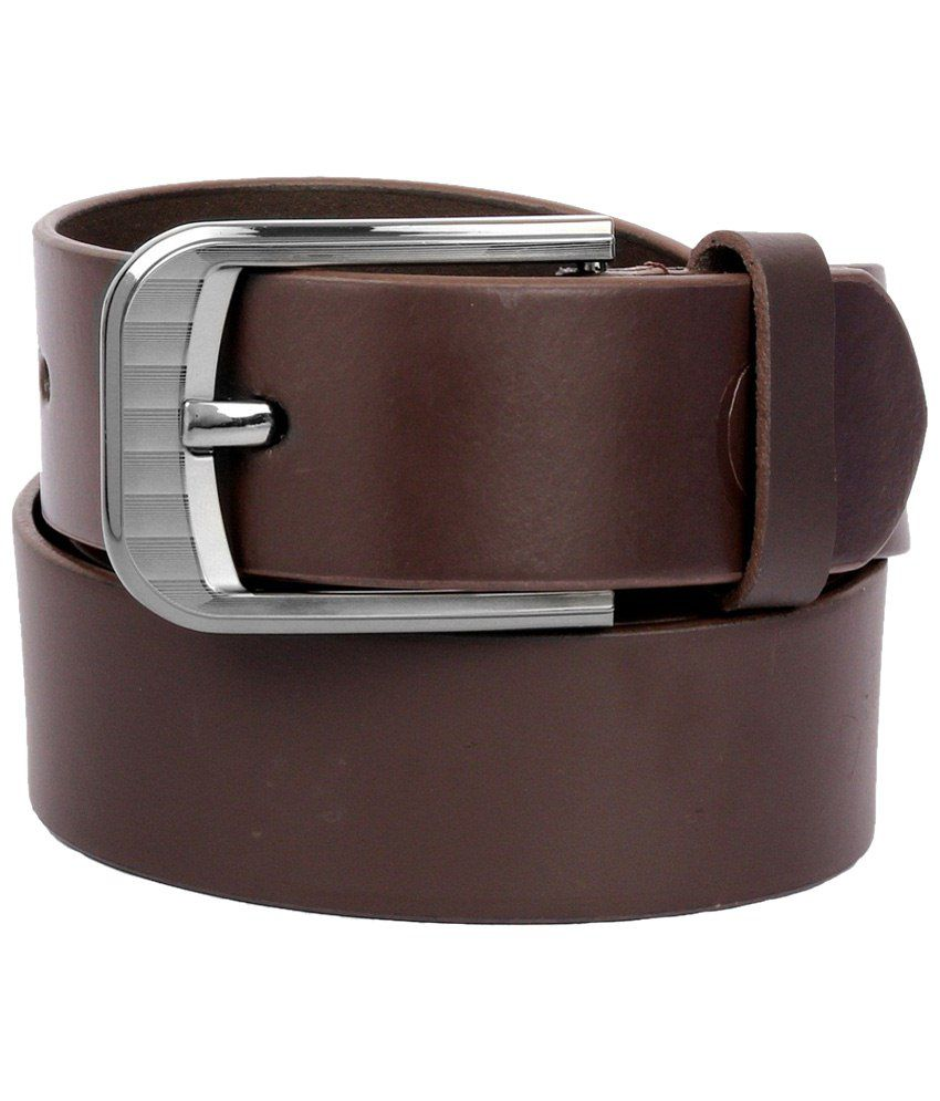 Clayton Brown Leather Belt for Men