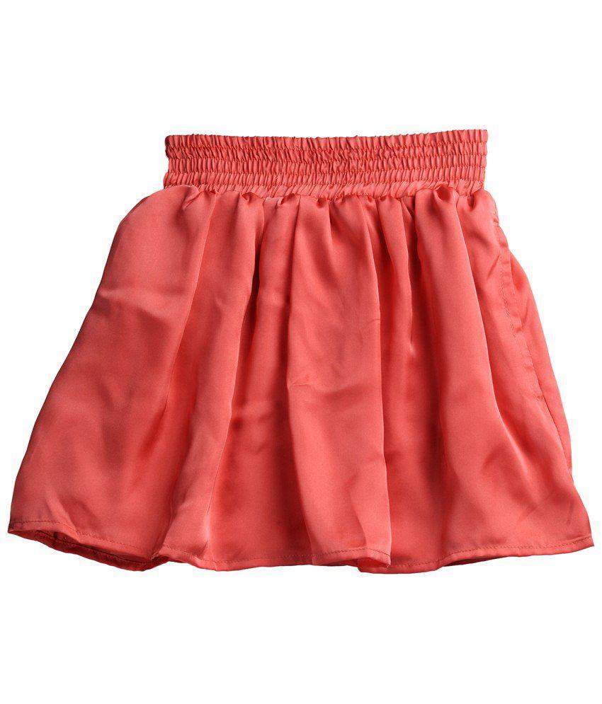 Karyn Peach Elasticated Skirt for Girls