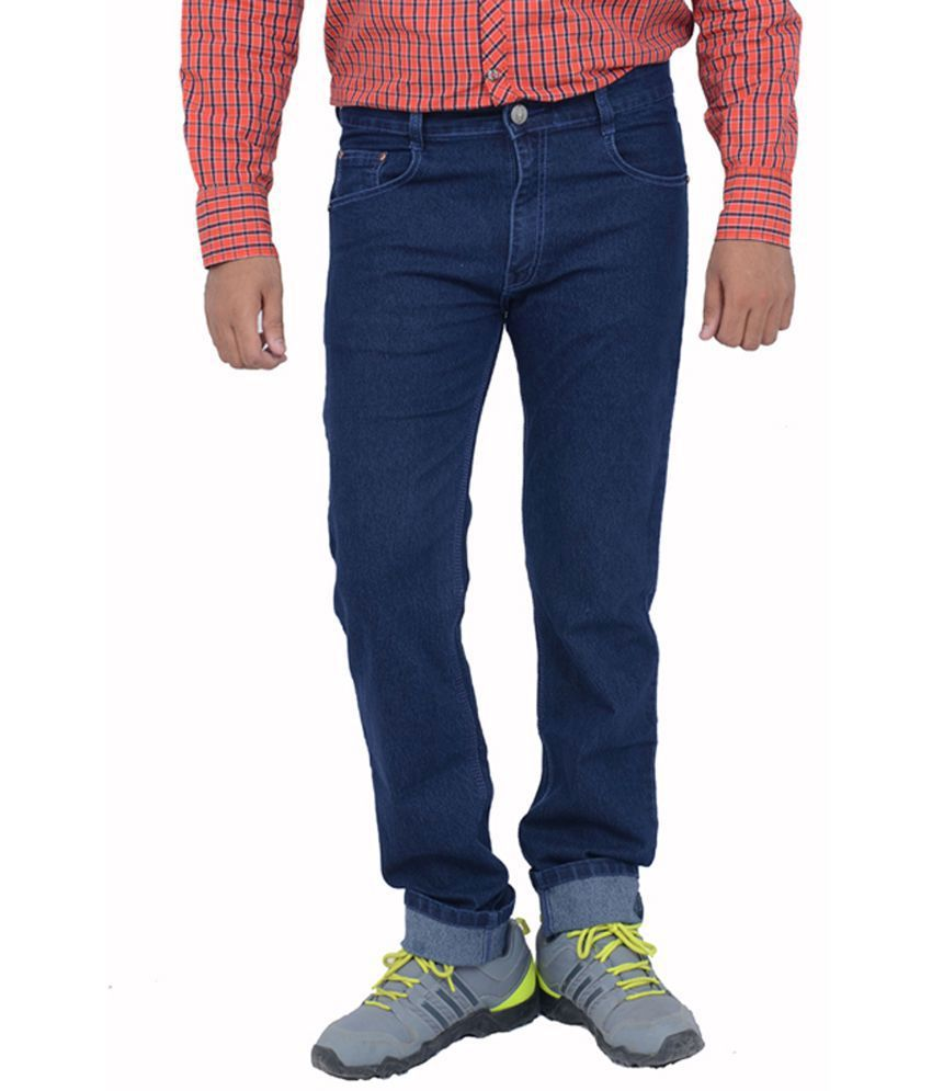 Masterly Weft Blue Cotton Regular Men's Jeans