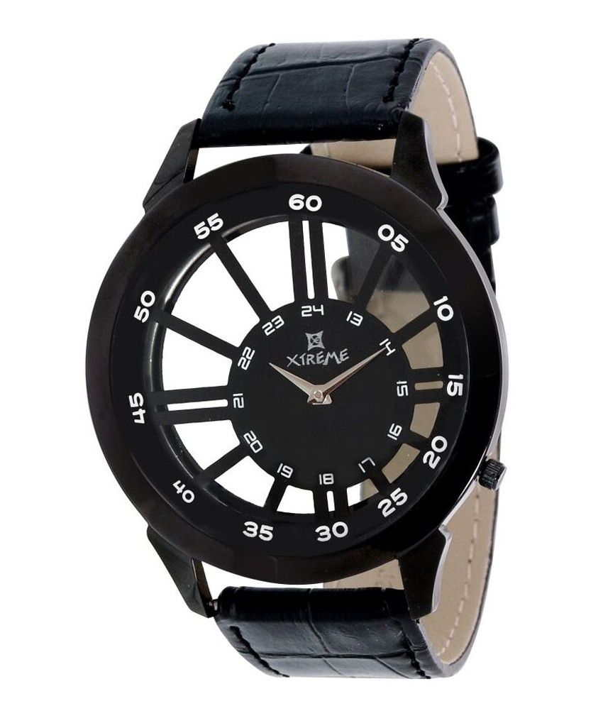 Xtreme Black Quartz Casual Analog Watch