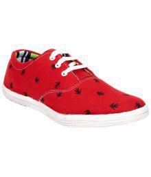 Juan David Red & Black Lace Up Shoes For Men