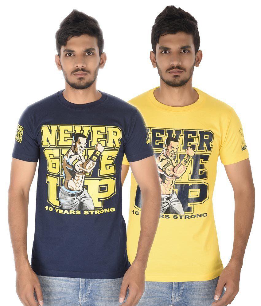 Attitude Multicolor Cotton Printed T-Shirt - Combo Of 2