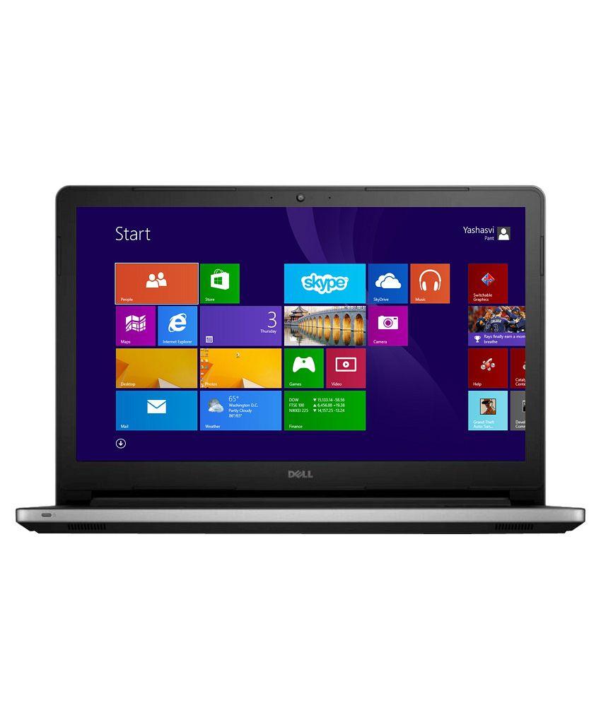Dell Inspiron 15 5558 Notebook (5558541TBiS) (5th Gen Intel Core i5- 4GB RAM- 1TB HDD- 39.62 cm (15.6)- Windows 8.1) (Silver)